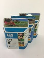 New HP 27 Black Ink Cartridge (C8727AN) (Warranty end dates 2006&2008) LOT OF 3