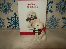 HALLMARK PUPPY LOVE #23 SERIES 2013 CHRISTMAS KEEPSAKE ORNAMENTS WHITE DOG