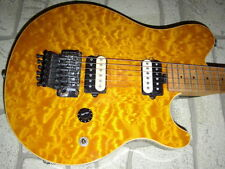 2000 Music Man Axis Transparent Gold Body & Matching Headstock Quilt Maple Top
