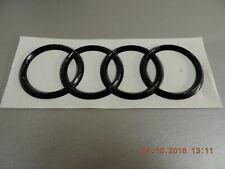 Original Audi A4 Avant  8W Emblem Ringe Schriftzug Heckklappe Heck schwarz