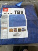 HFT 5 ft. 6 in. x 7 ft. 6 in. Blue All Purpose/Weather Resistant Light Duty Tarp