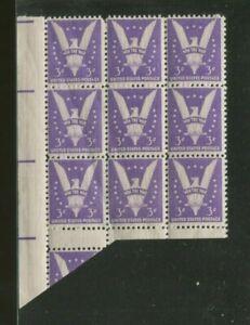 United States Postage Stamps #905 MNH VF Gutter Snipe Block of 9