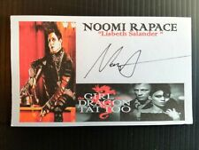 """THE GIRL WITH THE DRAGON TATTOO"" NOOMI RAPACE AUTOGRAPHED 3X5 INDEX CARD"