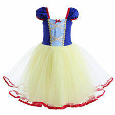 Toddler Kids Snow White Cosplay Costume Princess Girls Tutu Party Fancy Dress