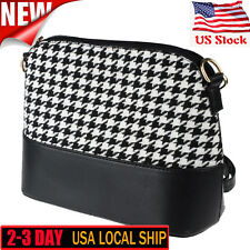 Fashion Women's Houndstooth Shoulder Bags Crossbody Messenger Tote Purse Satchel