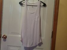 Large White on white Zebra print burnout tank NEW Without Tags