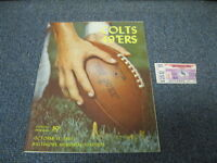 Oct 13, 1963 San Francisco 49ers vs Baltimore Colts Program and Ticket Stub