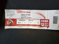 Sammlerticket 1. FC Köln - Bayer Leverkusen 2011/2012