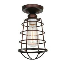 Design House Ajax Collection 1-Light Textured Coffee Bronze Indoor Ceiling Mount
