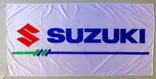 SUZUKI FLAG WHITE - SIZE 150x75cm (5x2.5 ft) - BRAND NEW