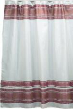 Fleur Fabric shower curtain, 100% polyester 70x72, color burgundy Fsc-Fl/20