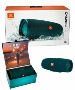 JBL Charge 4 Bluetooth Waterproof Portable Speaker BLUE NEW FREE SHIPPING