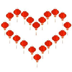 20PCS  Chinese Red Paper Lanterns, 10 Inch Lucky Hanging Red Paper Lanterns, Chi