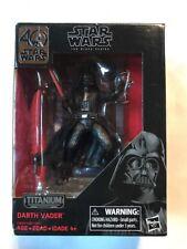 """Star Wars 40th Anniversary Black Series 3.75"""" DARTH VADER Titanium Series MISB"""