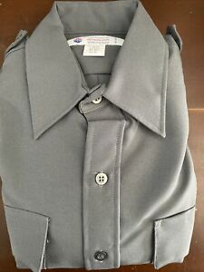 Liberty Uniform Men's Long Sleeve Police / Guard Shirt   Stain Repel Sz L -D6