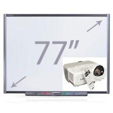 "77"" SB680 INTERACTIVE SMART BOARD & EPSON SHORT THROW PROJECTOR COMPLETE"