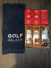 Lot New Titleist 15 PRO V1 & Callaway Soft Chrome Golf Balls + Bonus Towel
