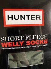 Hunter Corto Calcetines De Lana Welly Nuevo Verde Mediano Reino Unido 3-5