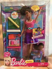 2012 Collectible Barbie Teacher Doll & Accessories Raises Hand NIB