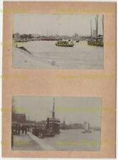 CHINESE PHOTOS SHIPPING ETC ? SHANGHAI TIENTSIN PEKING ? CHINA ALBUM PAGE C.1900