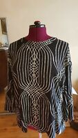 Sass and Bide amazing feature tunic blouse, size L, embellished with gold flecks