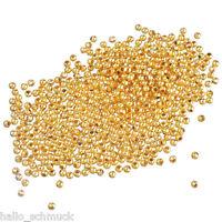 HS 1000 Vergoldet glatt Kugel Spacer Perlen Beads zum Basteln 0.3cm