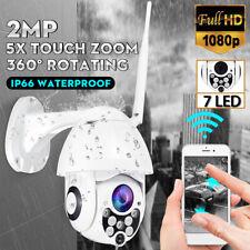 5X Zoom Pan Tilt 1080P HD Security IP IR Camera Outdoor Waterproof Night Vision