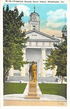 Virginia postcard Winchester, Frederick County Court House