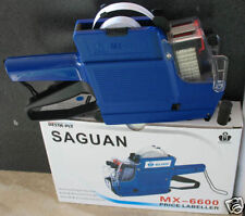 MX-6600 Saguan 10 Digits 2 two Lines Price Tag Gun +1 Ink