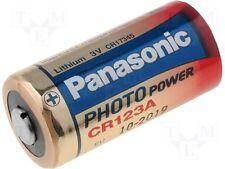 3  pile batterie  CR123 CR 17345  PANASONIC LITIO   3 Volt