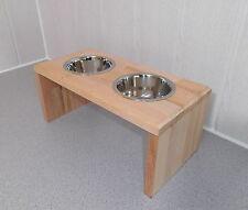 Hundenapf / Hundebar / Futternapf, natur -BUCHE- Jede Farbe möglich (152)