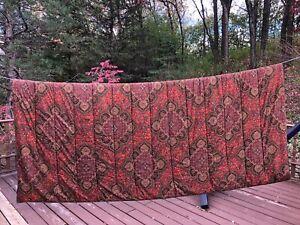 Ralph Lauren Equestrian Paisley King Comforter 100% Cotton Multi Color