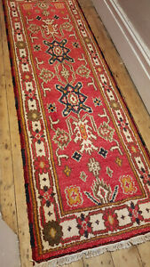 100% Wool hand knotted indo kazak runners SALE approx 65x200cm stunning rugs