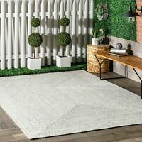 nuLOOM Braided Contemporary Modern Indoor Outdoor Area Rug in Ivory