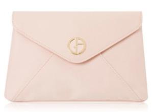 GIORGIO ARMANI Beauty blush peach Pouch Clutch makeup Cosmetic Travel Bag New