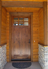 "CRAFTSMAN KNOTTY ALDER 6 LiITE ENTRY DOOR 36"" x 96"""