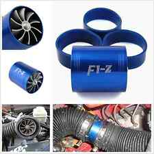 NEW Blue Car Rubber Single Turbo Turbine Charger Cool Air Intake Fuel Gas Fan