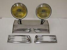 Porsche Hella 118 horn grill amber fog lights 911 912 with grills 1966 1967 1968