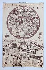 Geography, Maps, Mapmaking, 1890s Antique Colour Print.