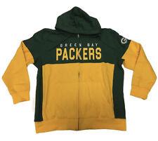 G-III Sports Green Bay Packers Men's 2xl Full Zip Drawstring Hoodie