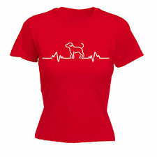 Dog Heart Beat Pulse WOMENS T-SHIRT Puppy Trainer Toy Leads Funny Gift birthday