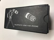 4in1 8x Telephoto/Fisheye/Macro/Wide Angle Lens+Case+Tripod for iPhone 5s,4s