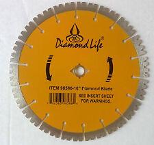 "(5) 10"" YELLOW - 15mm Saber Tooth Segmented Super Premium Diamond Blade -5 PACK"