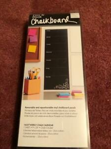 PEEL AND STICK CHALKBOARD REMOVABLE AND REPOSITIONABLE VINYL CHALKBOARD PANELS,N