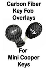 Mini Cooper Carbon Fiber Key Fob Overlay Sticker Decal Emblem Stripe 3M Wrap S