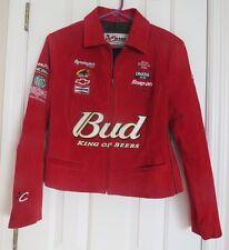 Women Racing -NASCAR Jacket by JH Design - Dale Earnhardt Jr Signature - Red  L