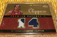 2007-08 UD Premier Shaun Livingston Patches 2 True 1/1 One Of One