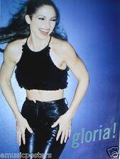 "Gloria Estefan ""Gloria!"" U.S. Promo Poster - Wearing Sexy Black Shiny Pants"