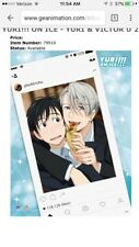 "Yuri!!! Yuri on Ice Yurio Victor FABRIC POSTER 29.5x42"" AUTHENTIC LICENSED *NEW*"