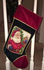 Brand New Santa Needlepoint Christmas Stocking